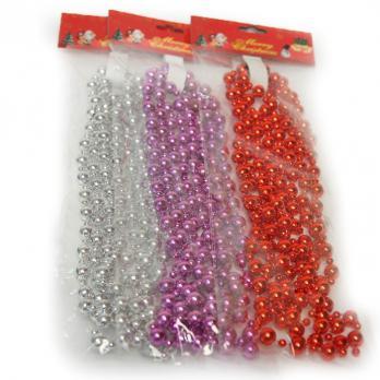 К1845 Новогоднее украшение лента (1м)цв.разные