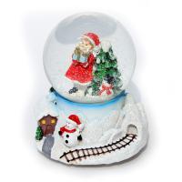 К2049L Новогодний шар с снегом 12*12*15см