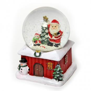 К2047М Шар новогодний со снегом 9*9*10см