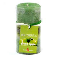 06748 Свеча запах-яблоко 10см 170гр