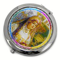 23606 Зеркальце Красн.девица в под.упак. D-70мм