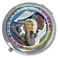 23607 Зеркальце Барышня в под.упак. D-70мм