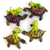 49114 (12) Магнит Лягушонок на черепахе 6*6см