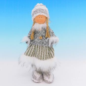 ZC-40552 (24) Девочка в зимней одежде, 19*11*35см