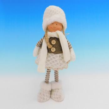 ZC-40537 (24) Девочка в зимней одежде, 19*13*35см