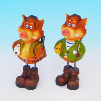 MY-15160(8) Свинья полистоун 5*5*12см