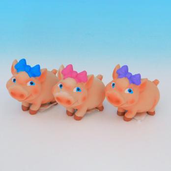 MY-15157(3) Свинья с бантом, полистоун,9*4*7,5см
