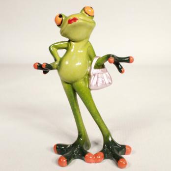 HOL21246 (1-24) Лягушка с сумочкой 10*5.5*15 см