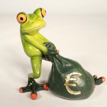 HOL21244 (1-24) Лягушка с деньгами 11.8*6.5*10.5 с