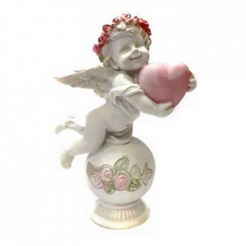 PLA17488  Ангелочек с сердцем 7*4.2*10.2см