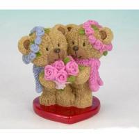 PLA 17405 (12) парочка медвежат 6*4,3*6см