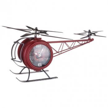 799-123 Часы настольные кварц Вертолет 42*23*22 см