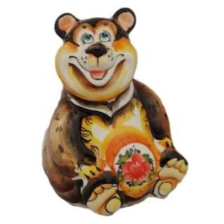 4094 Медведь цвет фарфор 12 см