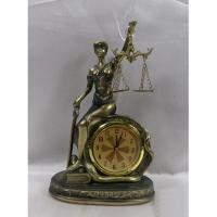 HOL 20637 Богиня правосуд.с часами 11,7*6,5*18,7см