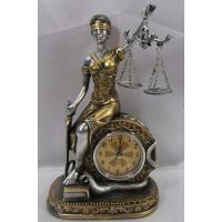 HOL 20638 Богиня правосуд.с часами 14,5*8*24,5см