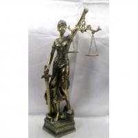 HOL 20646 Богиня правосуд.с часами 5,5*4*18,5см
