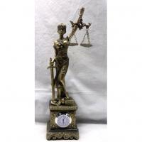 HOL 20647 Богиня правосуд.с часами 7,5*5,5*28см