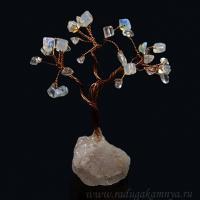+ 1622628 Дерево счастья лун.камень,горн.хруст 90г