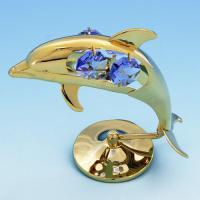 U-3106/GB Дельфин с кристаллами 5*4*9см
