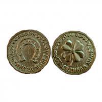 20025 Монета Счастливая клевер золото