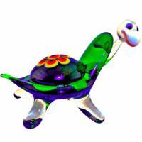 5-128 Черепаха стекло