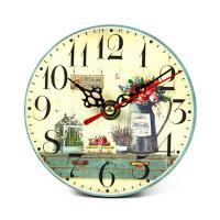 6797015 Часы настольные Лаванда 12*12см