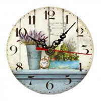 6797016 Часы настольные Лаванда 12*12см