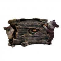 КП026 Кашпо Пень с мышками 15*14см