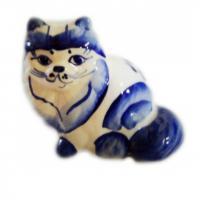 1009 Кошка гжель 6,5см