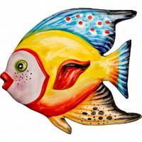 628-106 Панно настенное Рыба 16*15см