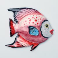628-108 Панно настенное Рыба 16*15см