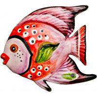 628-109 Панно настенное Рыба 16*15см