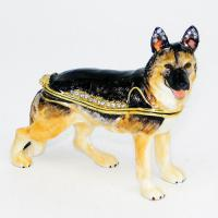 BP-24181 Шкатулка Собака со страз.8,4*3,3*7,7см