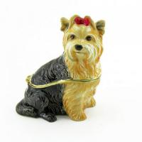BP-26761 Шкатулка Собака со страз.6*3,5*6,5см