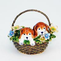 BP-65302 Шкатулка Собаки со страз.7*5*6см
