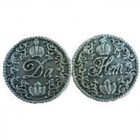 20026 Монета Данет с короной олово