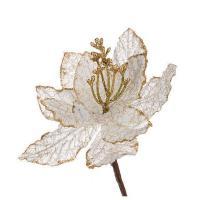 241-1003 ***Цветок искусств.Пуансетия на клипсе