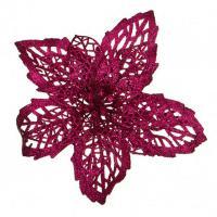 241-2416 Цветок искусств.Пуансетия на клипсе