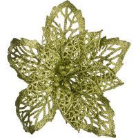 241-2417 Цветок искусств.Пуансетия на клипсе