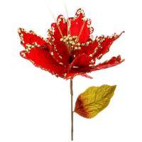 241-1824 Цветок искусств.Пуансетия 80см