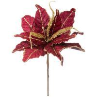 241-1828 Цветок искусств.Пуансетия 63см