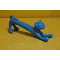 318-4 Ручка-игрушка Кошечка синяя