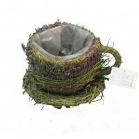 862738207 Ваза зеленая Чашка, трава, 19*16*11см