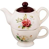 493-646 Набор чайник+чашка Шиповник