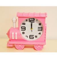 212-2 Паровозик розовый с часами-будильник 18*16см