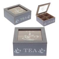 401908 Шкатулка для чайных пакетиков 15*15*7см
