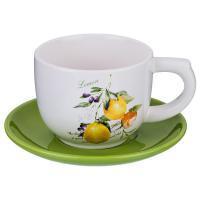 230-170 Чашка с блюдцем Итальянские лимоны 210мл
