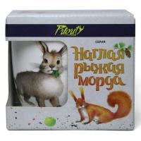 КРС-768 Кружка 380 мл Наглая рыжая морда Кролик