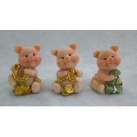 L53915 (12) Свинья с деньгами 3.1*2.9*4.2 см