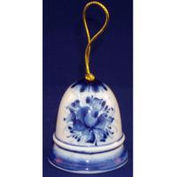 Колокольчик с росписью гжель 5.5 см., арт.2613